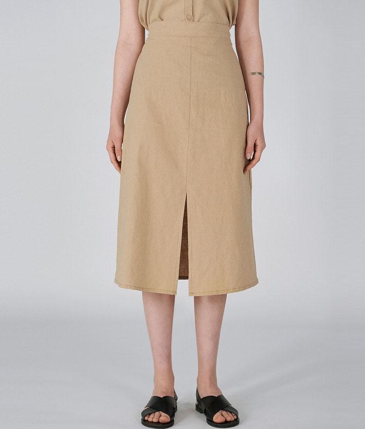 Linen Slit Long Skirt
