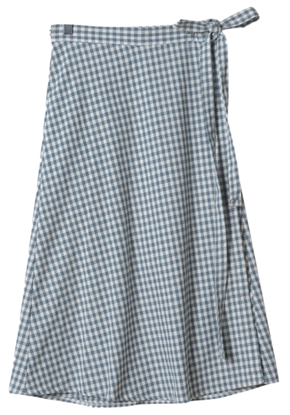 Bunny check long skirt