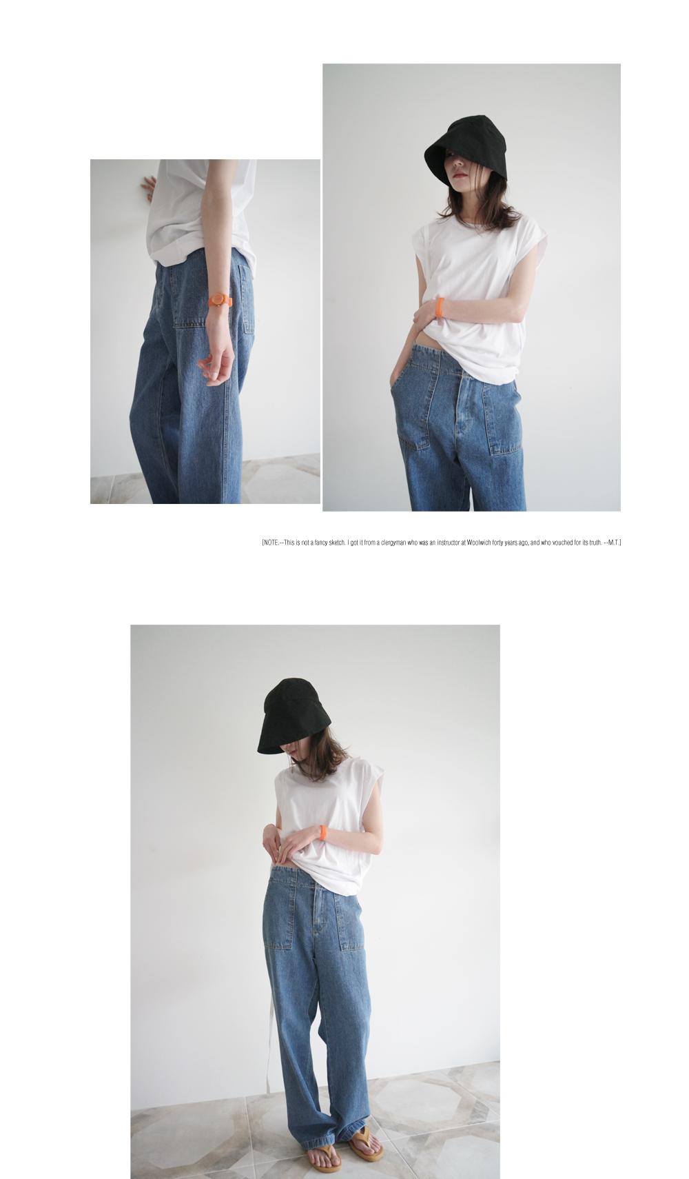 basic cap-sleeve top (4colors)