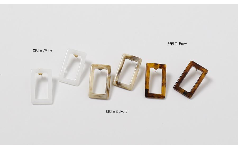 Marvel square earring_K (size : one)