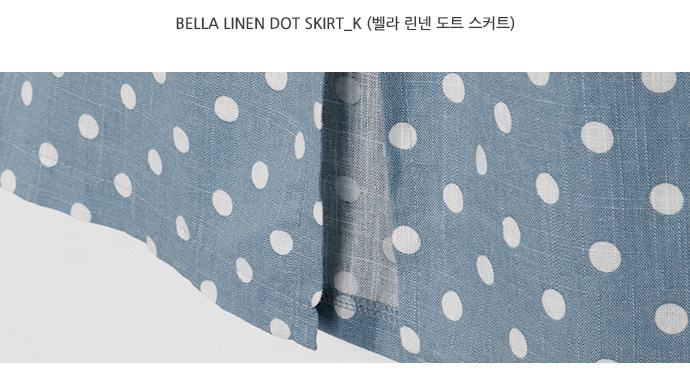 Bella linen dot skirt_K (size : free)