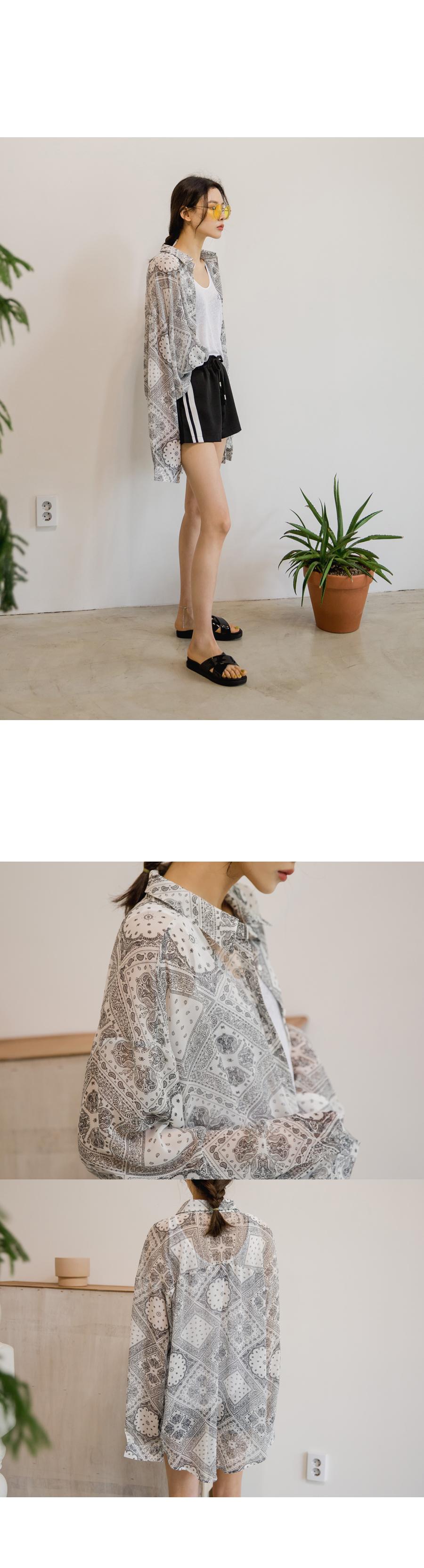 Chiffon paisley shirt