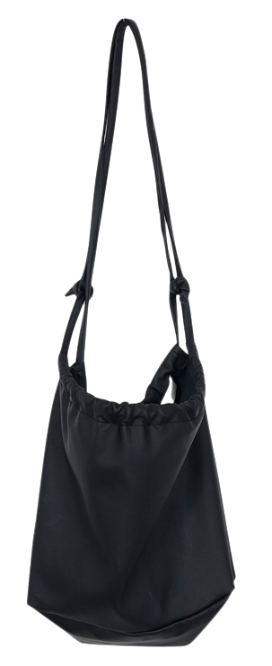 Cozy leather string bag_S (size : one)