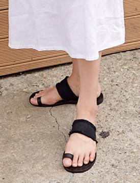 Mesh toe-ring slipper_S (size : 225,230,235,240,245,250)