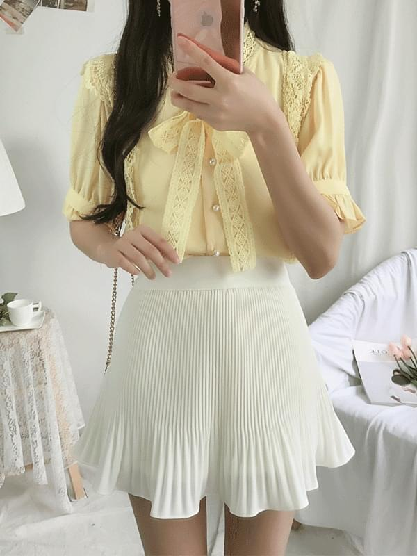 Butterfly lace blouse