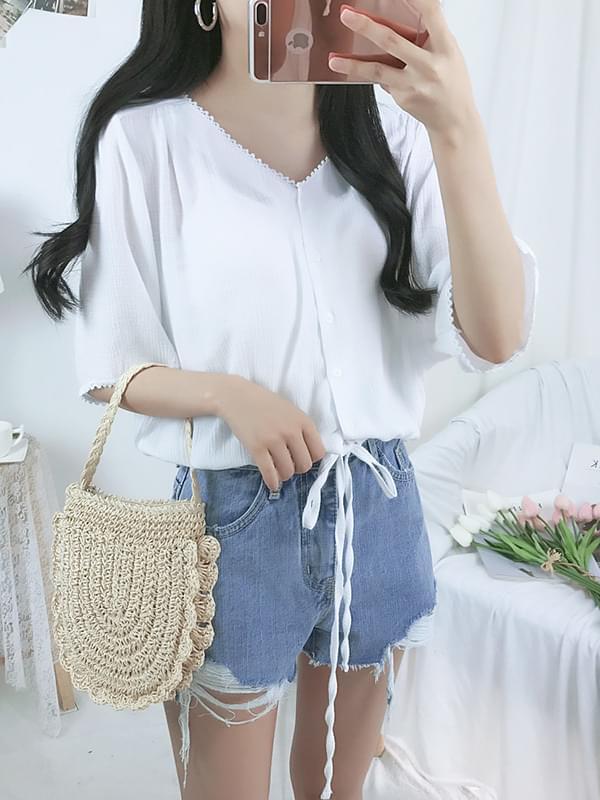Zhuri ribbon blouse