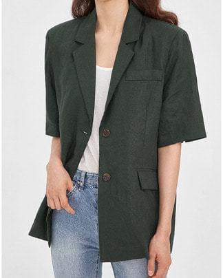 july linen half jacket