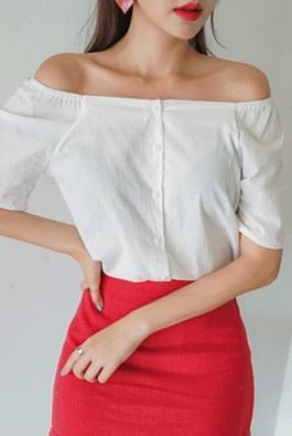 Square short sleeve blouse