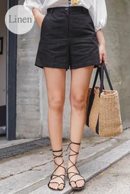 Non-woven linen pants