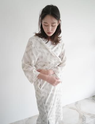 paisley pattern long robe (2colors)
