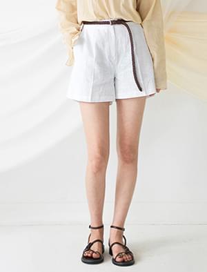 High waist part 3 linen short pants-spt