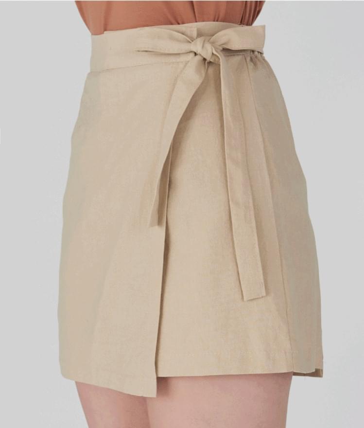 Wrap Ribbon Skrit Pants