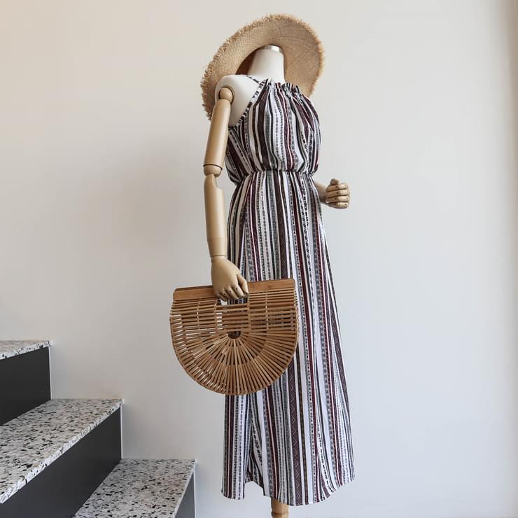Ethnic Halter Long Maxi Dress _opsw02554