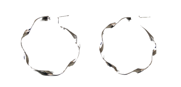 unique twist circle earring
