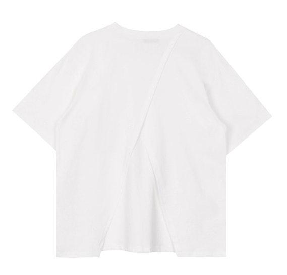 Back slit tee (2color)