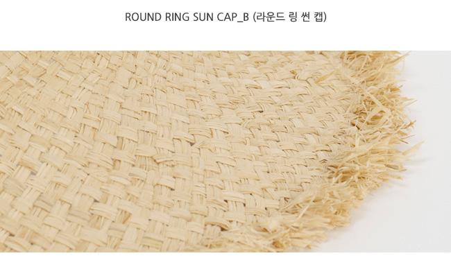 Round ring sun cap_B (size : one)
