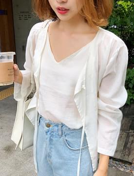 Easy cotton sleeveless set_B (size : free)