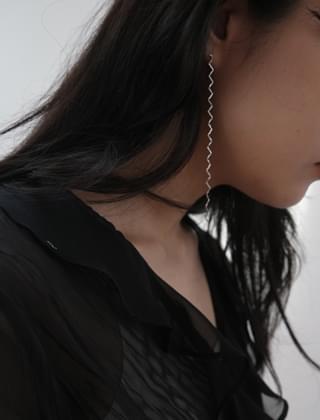 zigzag sparkle earrings (2colors)