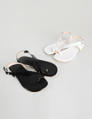Respect diagonal sandals