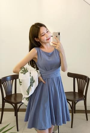Slender waist dress