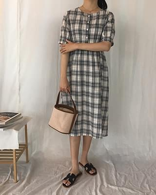 Modern Check Dress - 2color
