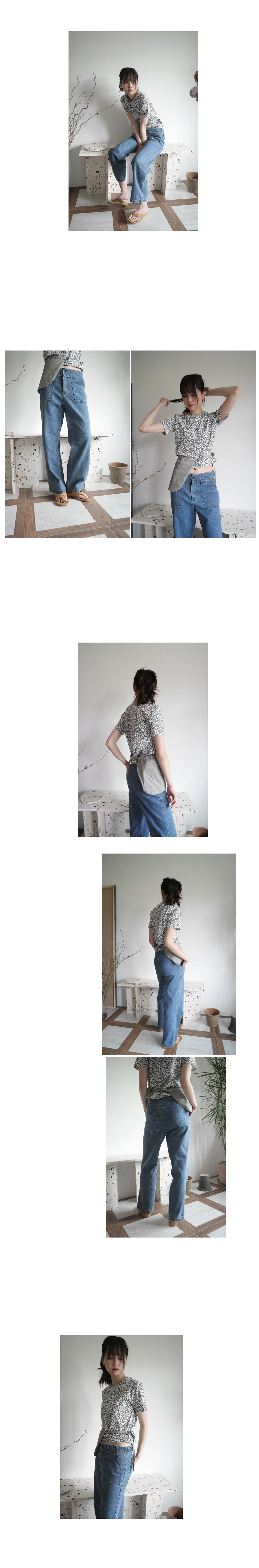 simple waist full denim