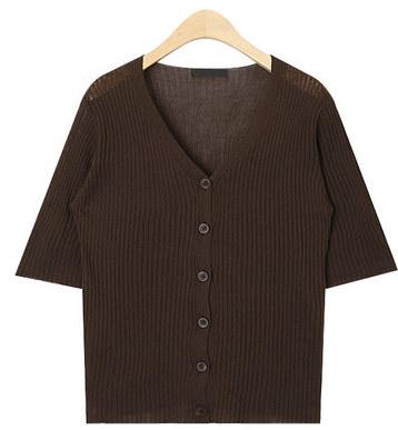 smile golgi v-neck half knit