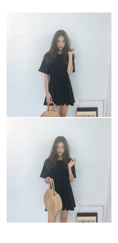 Cotton Moss Mini Dress