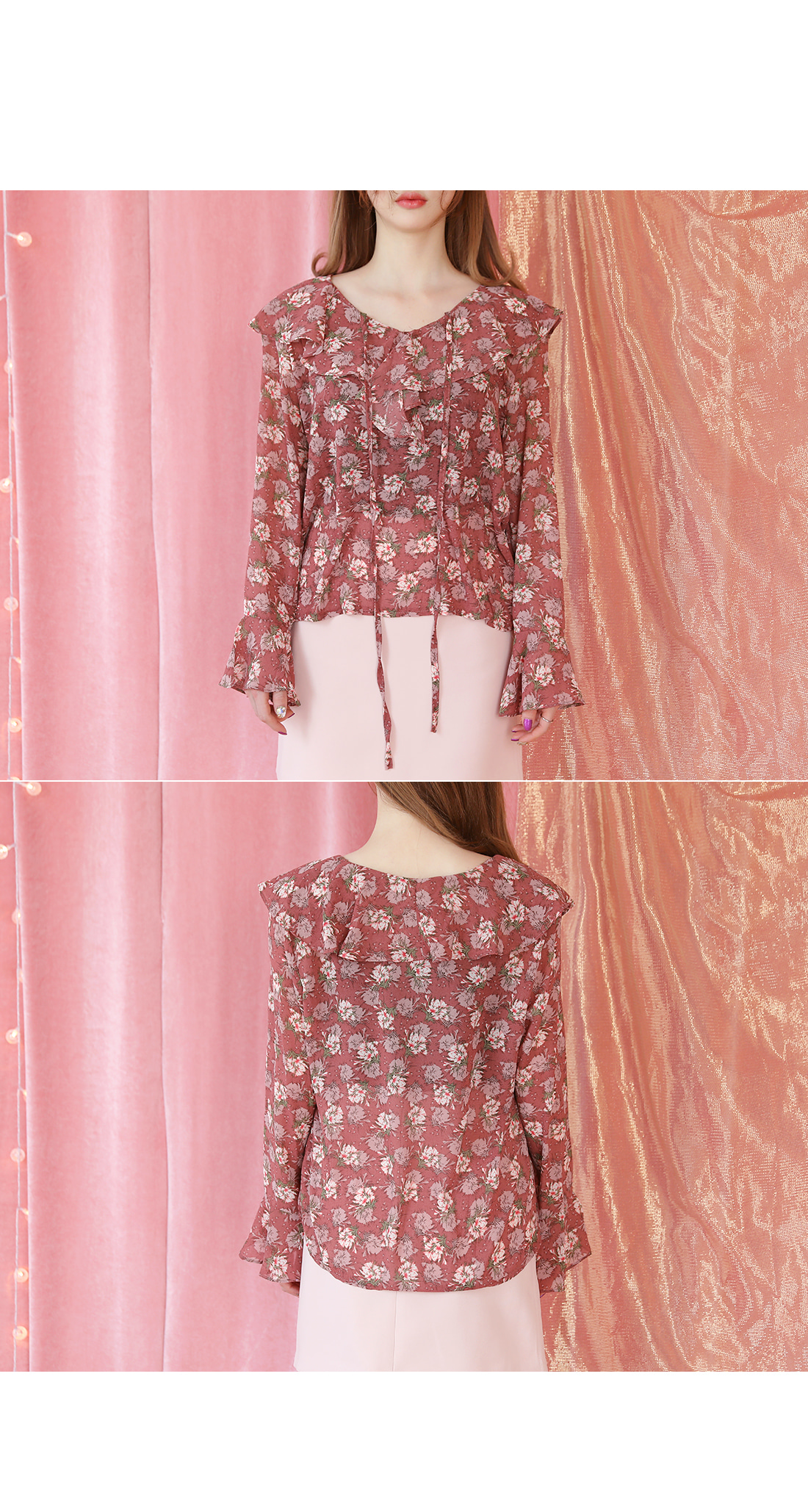 WAXFLOWER RUFFLE BLOUSE