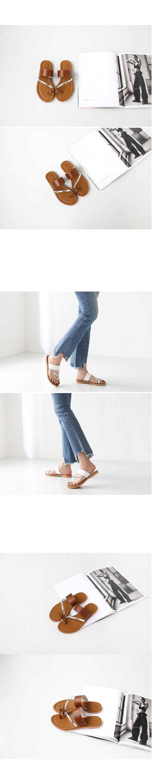 Combi strap slippers