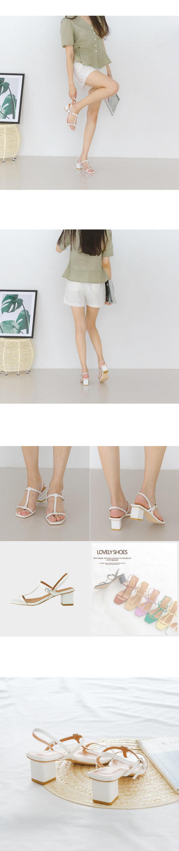 Ktines sling back sandals 5cm