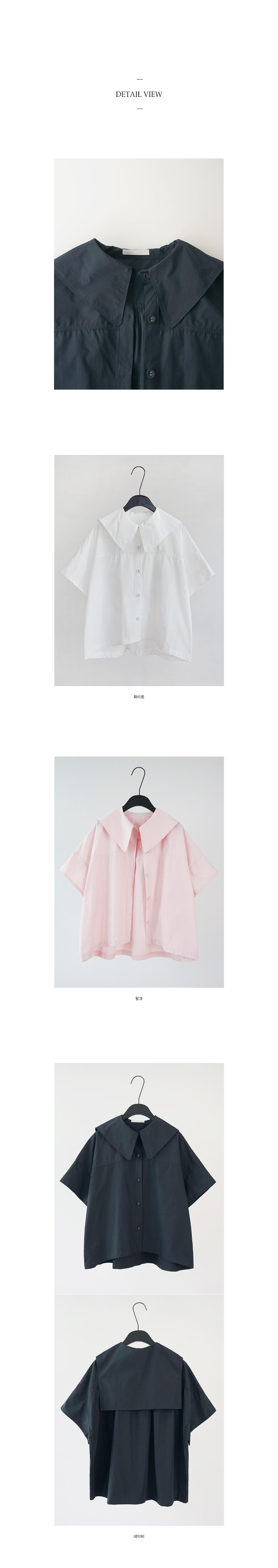 sailor cotton blouse (3colors)