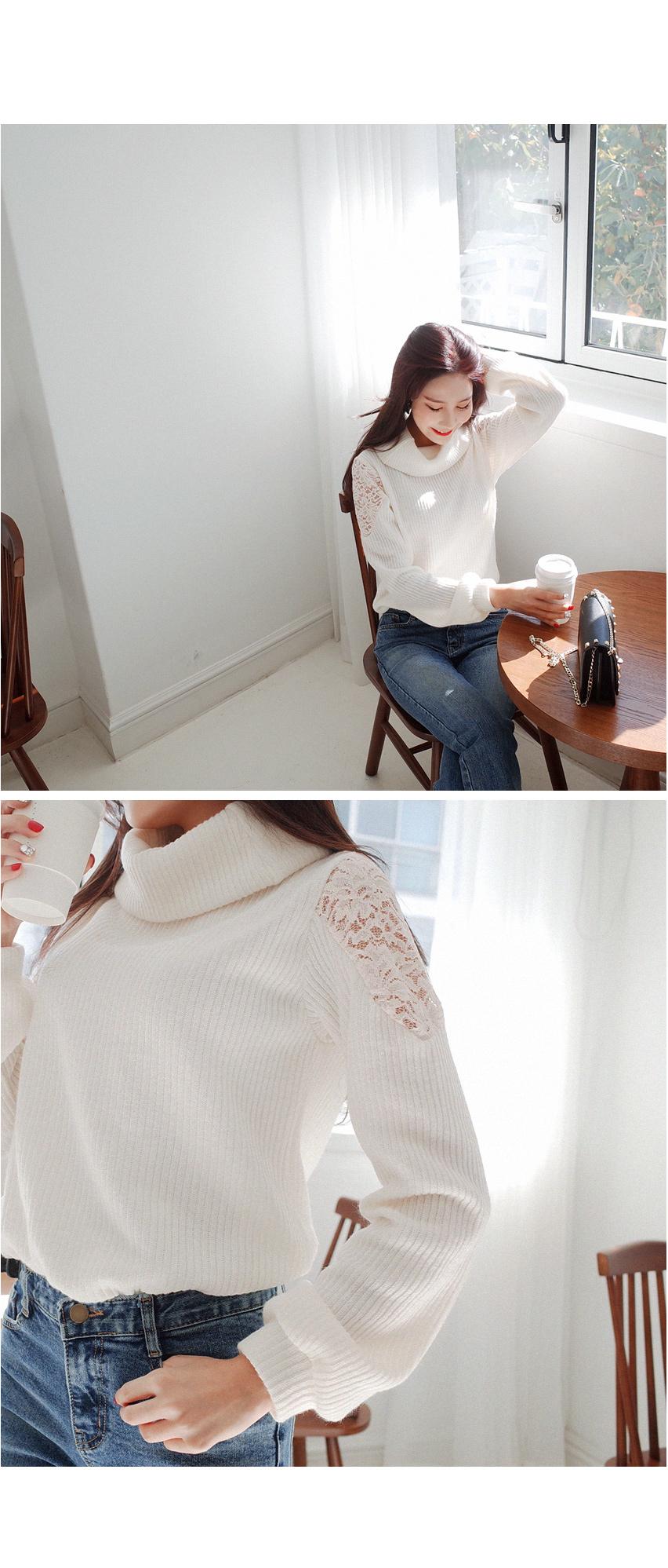 Shoulder n race knit