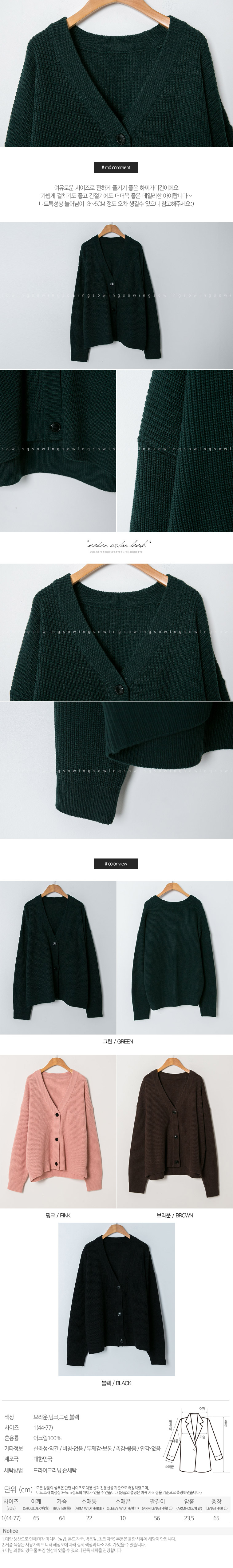 Hat basics cardigan