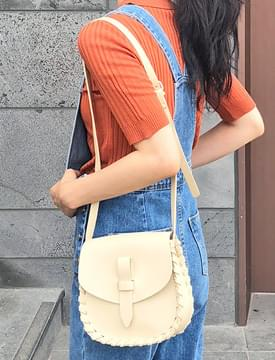 Bread soft leather bag_K (size : one)