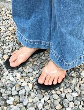 Clear pvc flip-flop_K (size : 230,235,240,245,250)