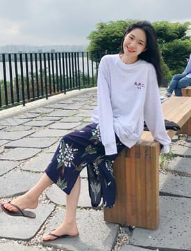 Woodsy pattern long skirt_M (size : free)