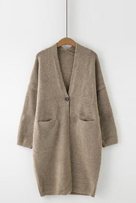 One button knit cardigan