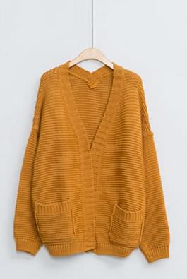 Bronze knit cardigan