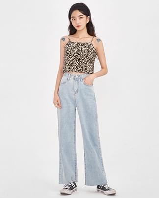 leopard crop sleeveless