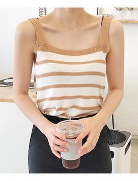 Friend stripe sleeveless_K (size : free)