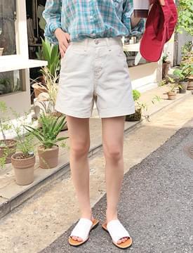 Travel washing denim shorts_K (size : S,M)