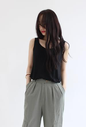 Silky sleeveless (2colors)