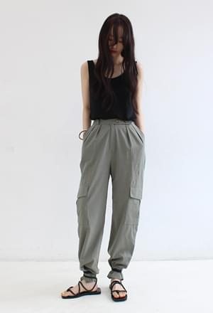 Linen cargo pants (2color)