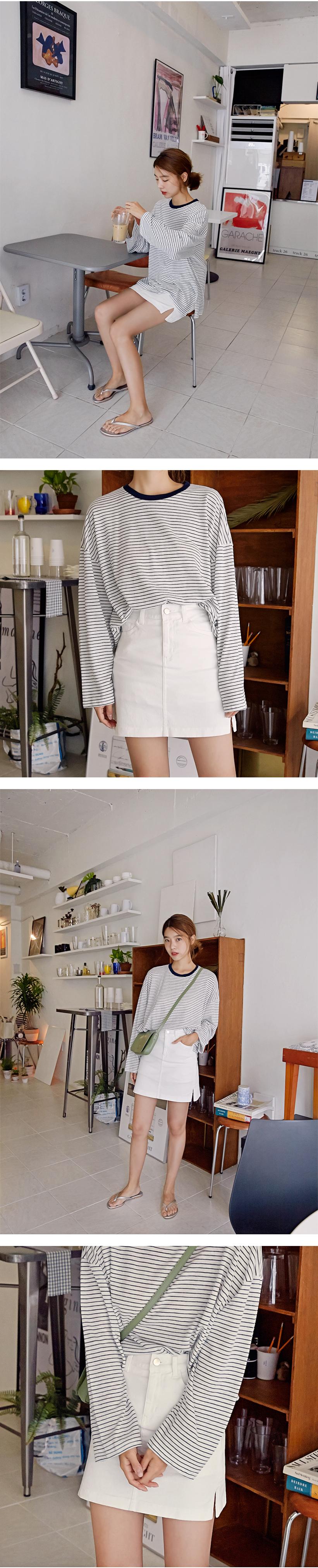 MORE JEAN_Basic culottes mini skirt_white (size : XS,S,M,L)