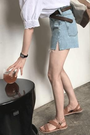 ★ slip denim shorts to order! Will be in stock after 8/16