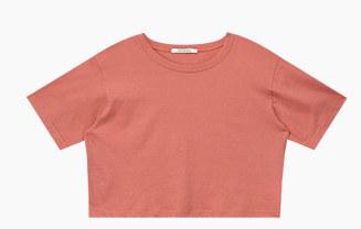 라이트 크롭 티셔츠