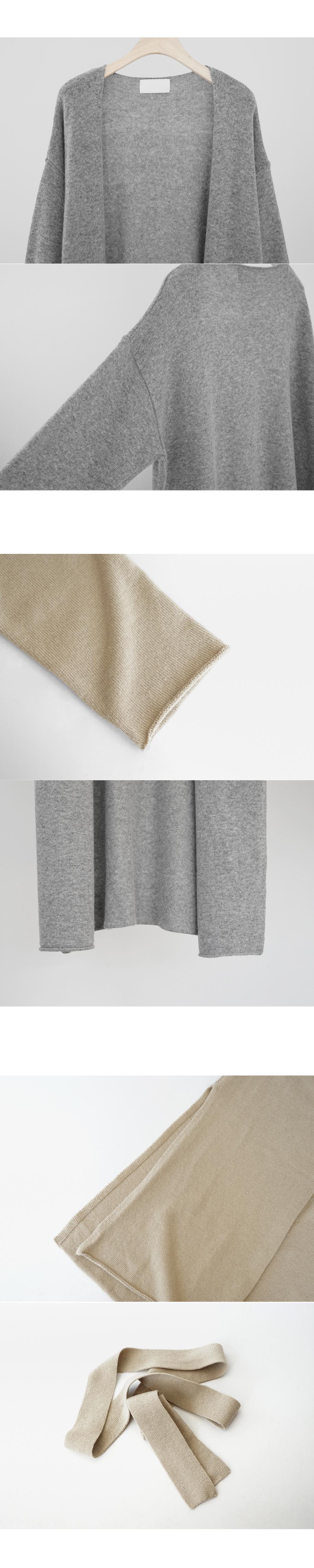 maxi wool strap cardigan (4colors)
