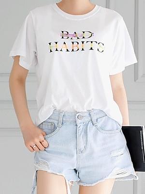 배드 홀로그램 티셔츠
