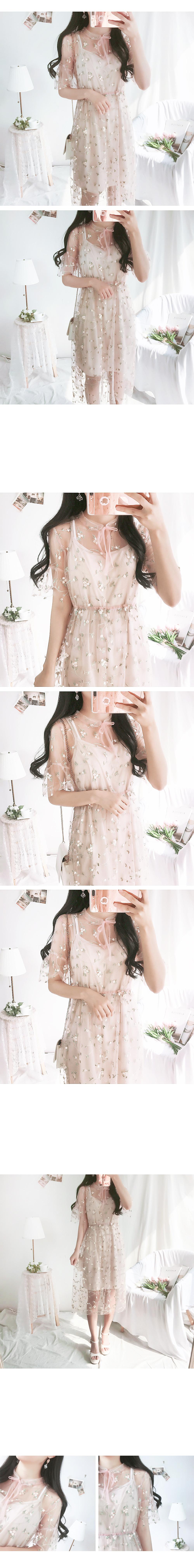 Pitch Rose Dress SET